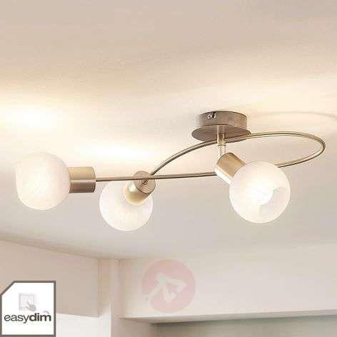 Dimmable LED ceiling light Tanos, matt nickel