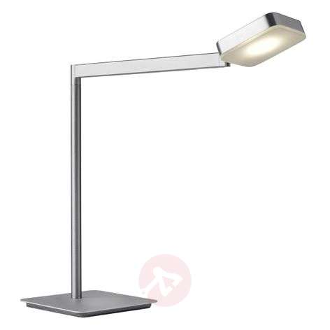 Dimmable LED table lamp Finesse in angular shape
