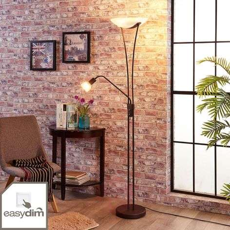Dimmable LED uplighter Felicia in a rusty look