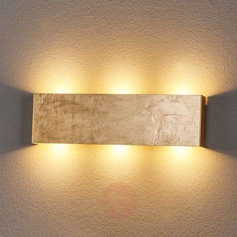 Dimmable Maja LED wall light, antique gold