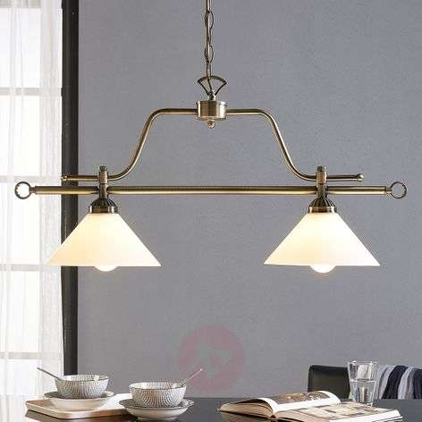 Dining table hanging lamp Otis, 2-bulb
