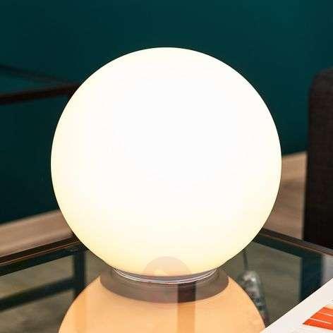 Dioscuri glass table lamp, spherical 25 cm