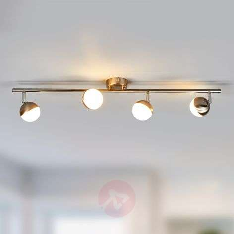 Discreet LED ceiling lamp Jonne, matt nickel