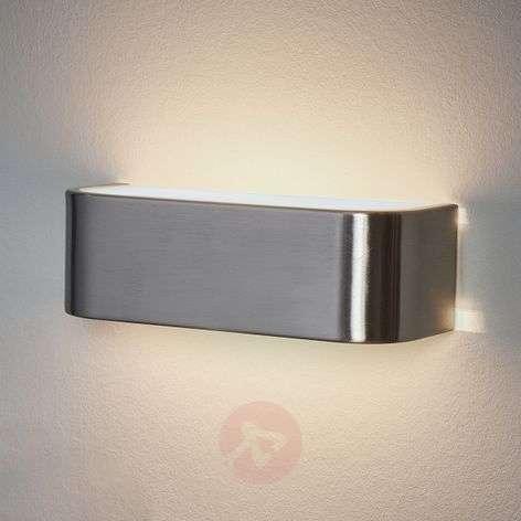 Discreet LED wall lamp Lotti in nickel