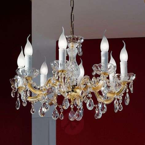 Dolores chandelier with eight bulbs