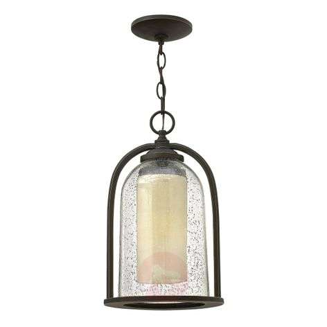 Double-shaded hanging lamp Quincy for outdoors