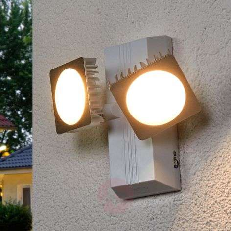 Double spot LED outdoor wall lamp Noxlite Smart