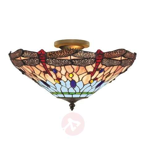 Dragonfly Tiffany-style ceiling light-8570405-31