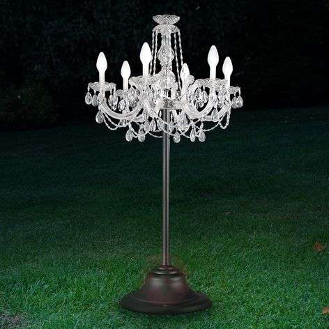 Drylight controllable outdoor LED floor lamp RGBW