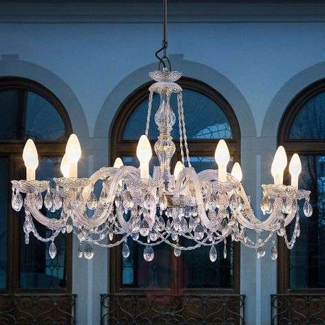 Drylight S12 12-bulb outdoor LED chandelier