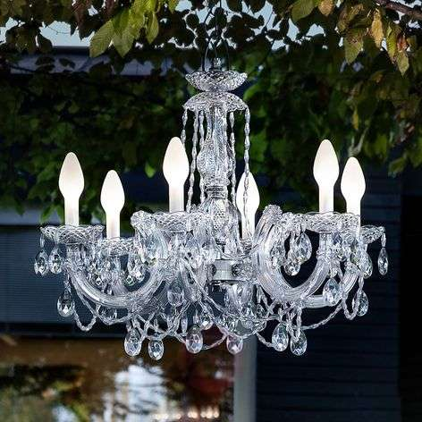 Drylight S6 app-controlled chandelier for outdoors