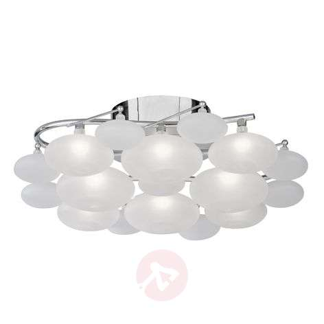 Dulcie ceiling light with matt glass lampshades