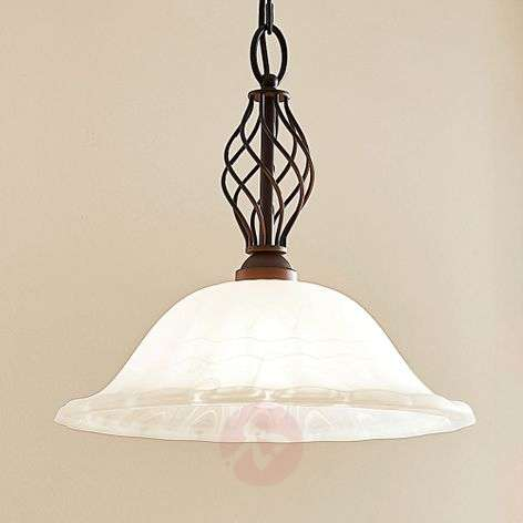 Dunja country house pendant lamp with an E27 LED-9620270-31