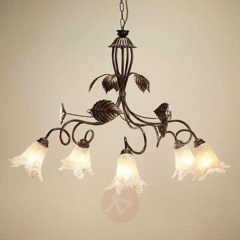Dvora Florentine pendant light, five-bulb