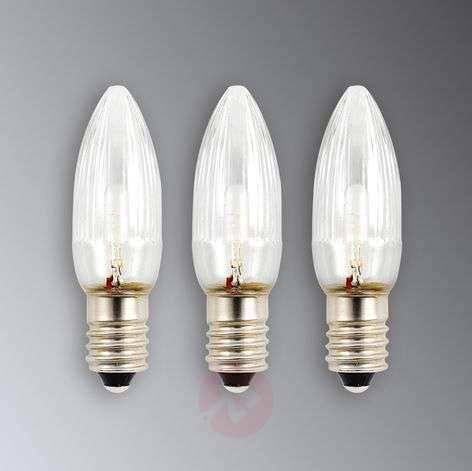 E10 0.12W 6V spare bulbs pack of 3
