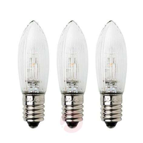 E10 0.3 W 24 V spare bulbs pack of 3