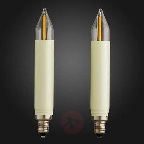E10 0.5 W 8 V LED spare shaft candle, pack of two