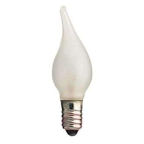 E10 3 W 12V spare bulbs, 3-pack, flame tip
