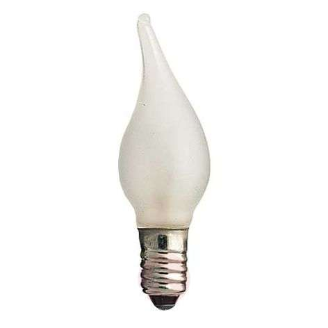 E10 3 W 24V spare bulbs, 3-pack, flame tip