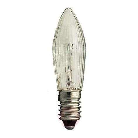 E10 3W 34V candle-shaped spare bulbs pack of 3