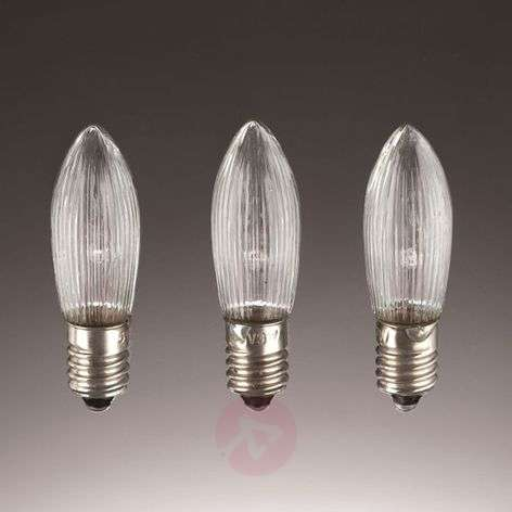 E10 3W 34V spare candle bulbs in a set of 3