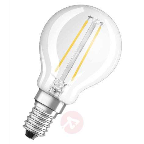 E14 1.4 W LED filament golf ball bulb, clear
