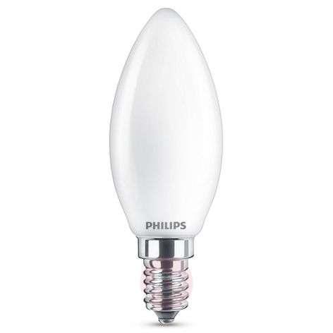 E14 4.3W 827 LED candle bulb, opal