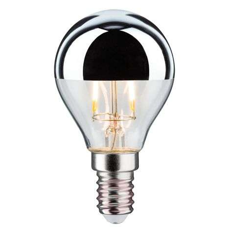 E14 4.5W 825 LED half mirror bulb, dimmable