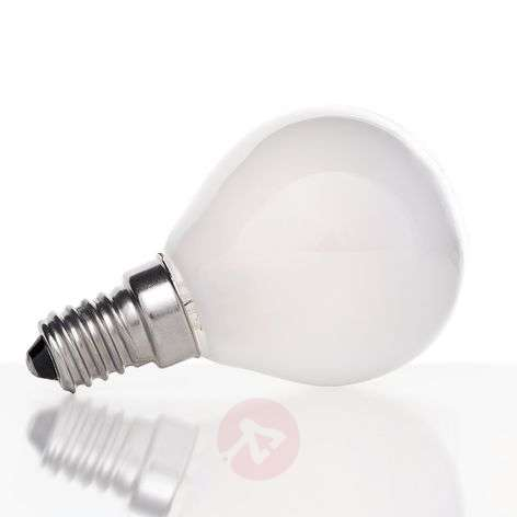 E14 4W 827 LED golf ball bulb, matt on the inside