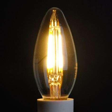 E14 4W 827 LED candle bulb, clear