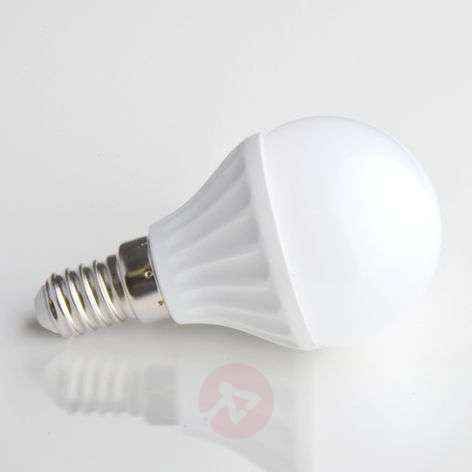 E14 4W 830 LED light in a tear form matte