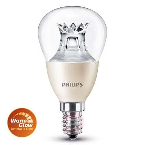 E14 6 W 827 LED golf ball bulb, warm-glow
