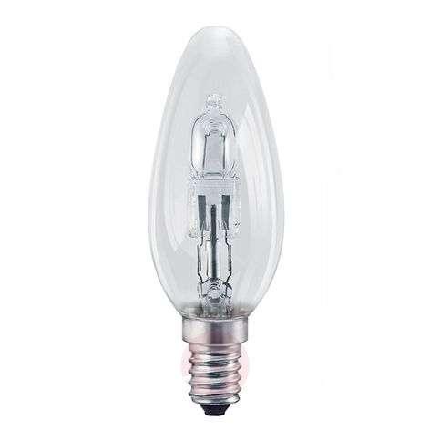E14 halogen bulb Classic B candle shape