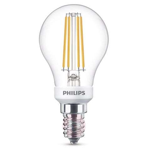 E14 P45 5W LED golf ball bulb 2700K dimmable clear