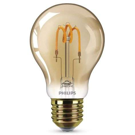 E27 2.3 W curved-line LED bulb warm white, gold