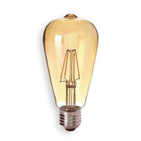 E27 4 W 824 LED lamp Gold, Clear-8530167-31