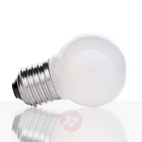 E27 4W 827 LED golf ball bulb, matt on the inside