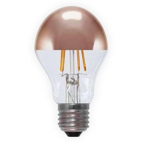 E27 4W 926 LED half mirror bulb, copper