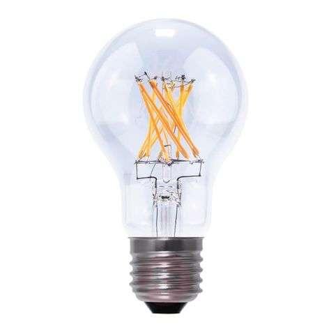 E27 5.5 W 826 LED lamp, transparent-8536053-32