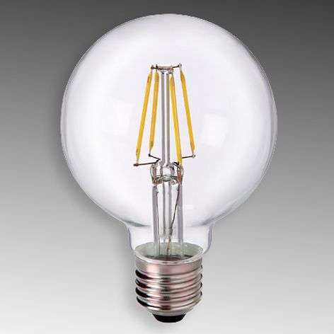 E27 5 W 827 LED globe G80, clear