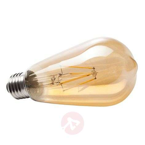 E27 6 W 820 LED rustical bulb, gold