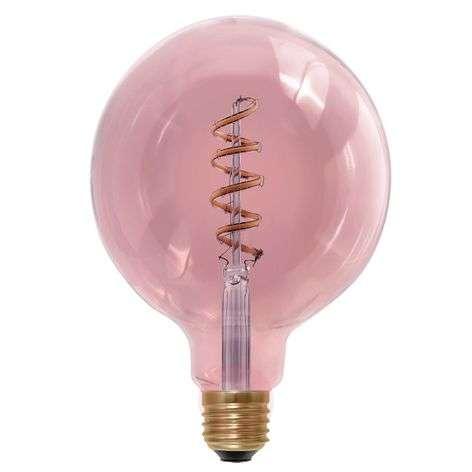 E27 6W 920 LED globe lamp, smoky magenta