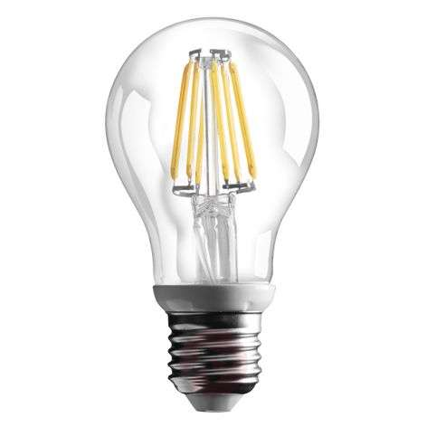 E27 6 W LED filament lamp with 800 lm - warm white