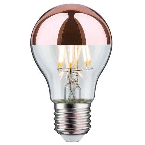 E27 7.5 W 827 LED half mirror bulb, copper