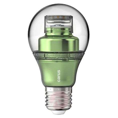 E27 8.6W 827 LED bulb lookatme green