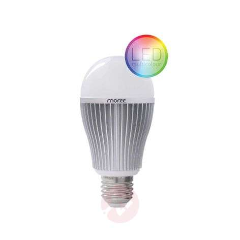 E27 9 W RGBW LED bulb, WIFI or radio