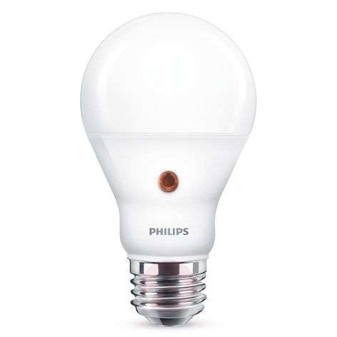 E27 A19 day/night sensor LED bulb 7.5 W, 2,700 K