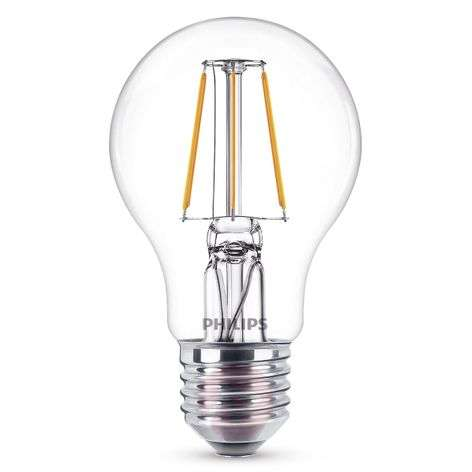 E27 A60 filament LED bulb 4 W, 2,700 K, clear