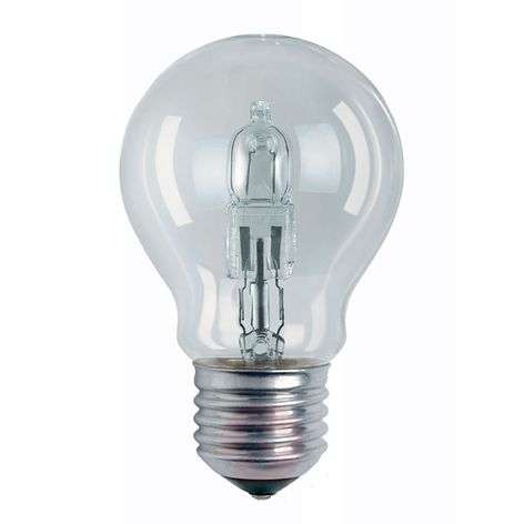 E27 halogen Classic A bulb form clear