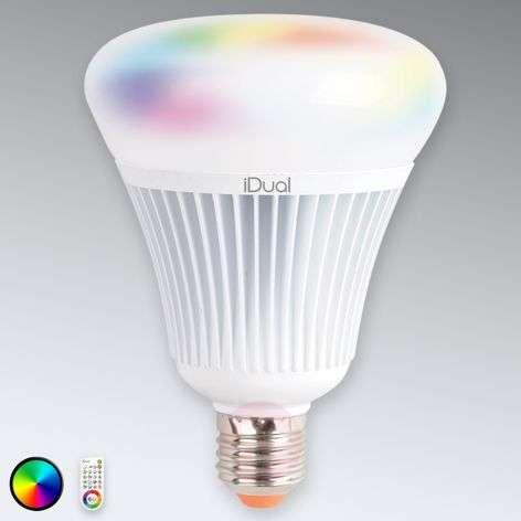 E27 LED bulb iDual G100 with remote control, 16 W